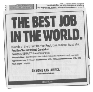 This Simple Job Classified Ad Has Let Everyone in the World Wants to Visit Hamilton Island.