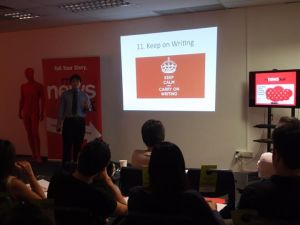 Jacky Tan speaks at MyNewsDesk Singapore HQ